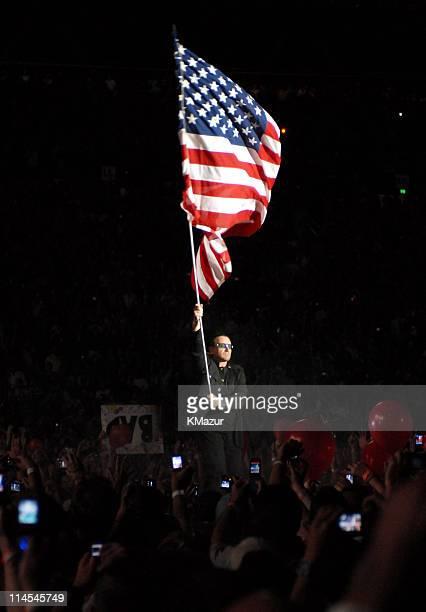 Bono of U2 during U2 in Concert in Honolulu December 9 2006 at Aloha Stadium in Honolulu Hawaii United States