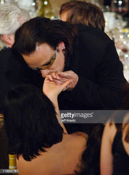 Bono of U2, inductee during 20th Annual Rock and Roll Hall of Fame Induction Ceremony - Show at Waldorf Astoria Hotel in New York City, New York,...