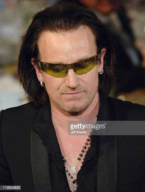 Bono of U2 inductee during 20th Annual Rock and Roll Hall of Fame Induction Ceremony Show at Waldorf Astoria Hotel in New York City New York United...