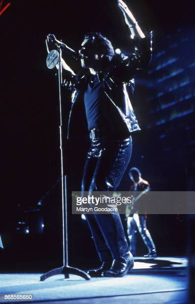 Bono of U2 perform on stage on the Zoo TV Tour Estadio Jose Alvalade Lisbon Portugal 15 May 1993