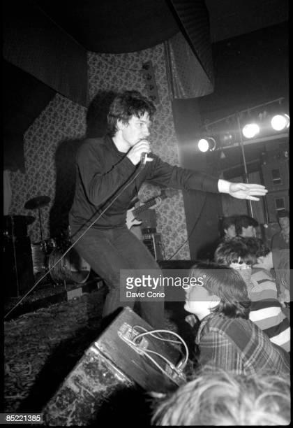 Bono of U2 performing at the Garden of Eden club Tullamore Ireland 2 March 1980