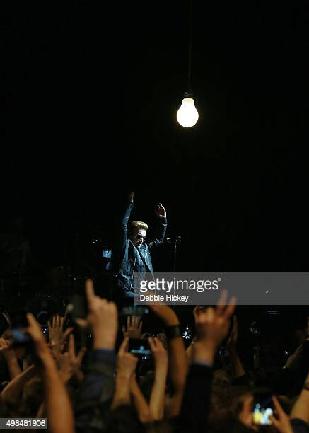 Bono of U2 performs at 3 Arena on November 23 2015 in Dublin Ireland