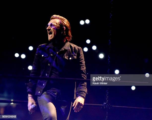 Bono of U2 performs at The Forum on May 16 2018 in Inglewood California