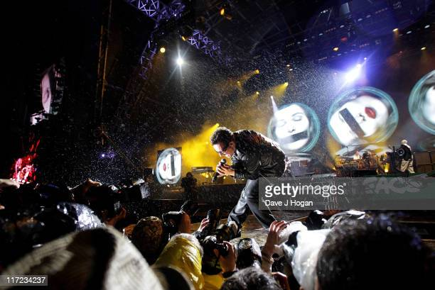 Bono of U2 performs at the Glastonbury Festival at Worthy Farm Pilton on June 24 2011 in Glastonbury England The festival which started in 1970 when...