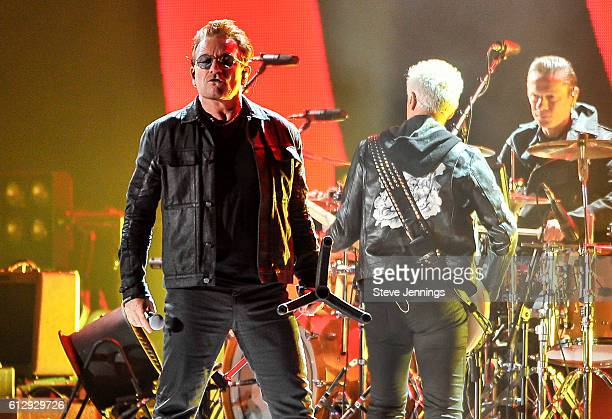 Bono of U2 performs at the UCSF Benioff Children's Hospital Benefit concert at Cow Palace on October 5 2016 in San Francisco California