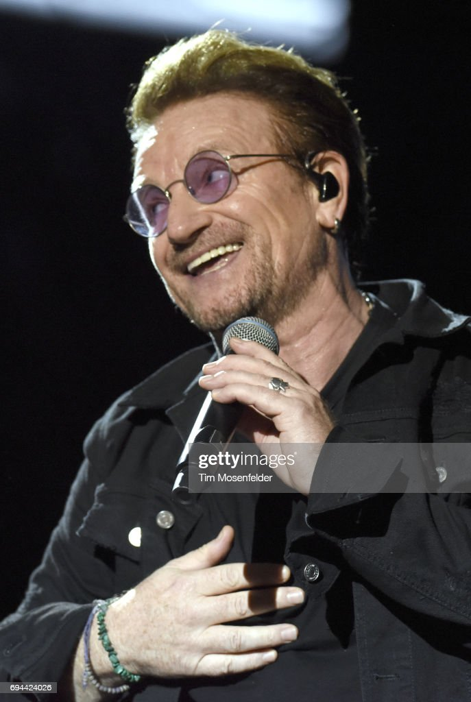 Bono of U2 performs during the 2017 Bonnaroo Arts and Music Festival on June 9, 2017 in Manchester, Tennessee.