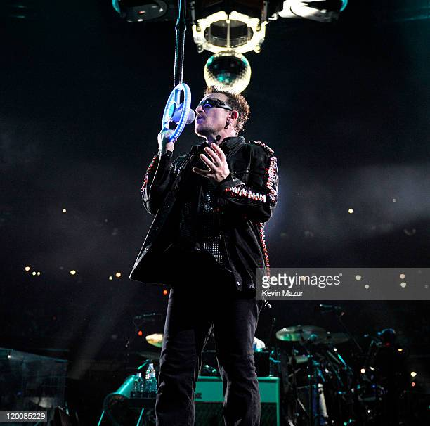 Bono of U2 performs during the U2 360 Tour at New Meadowlands Stadium on July 20, 2011 in East Rutherford, New Jersey.
