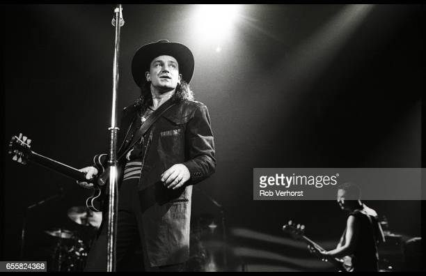 Bono of U2 performs on stage on the Lovetown Tour at the Palais Omnisports de Bercy Paris France 11th December 1989