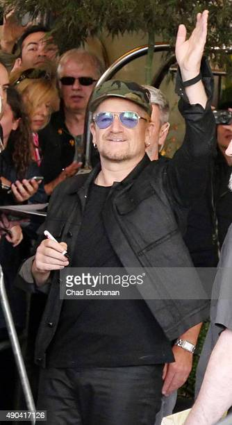 Bono of U2 sighted at the Waldorf Astoria Hotel on September 28 2015 in Berlin Germany