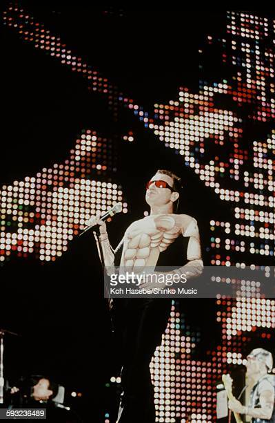 U2 Bono on ZOO TV TOUR JAPAN at Tokyo Dome Tokyo December 9 1993