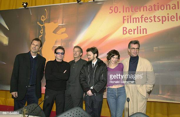 X Bono Peter Stormare Jeremy Davies Milla Jovovich and Wim Wenders