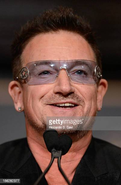 Bono speaks at the Georgetown McDonough 2012 Global Social Enterprise Initiative Event at Georgetown University on November 12, 2012 in Washington,...