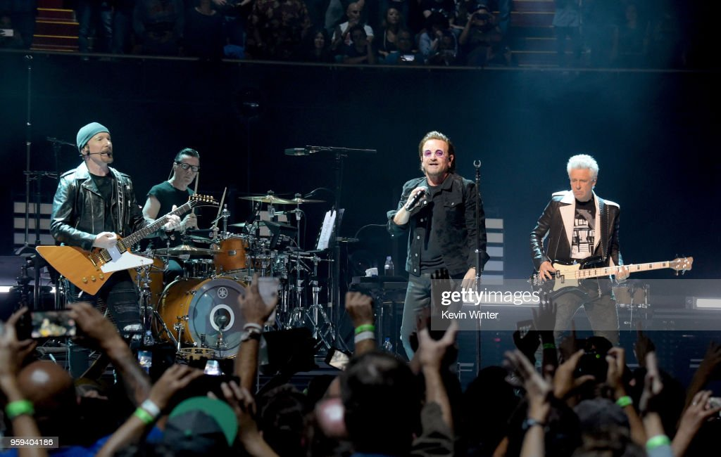 Bono, The Edge, Adam Clayton and Larry Mullen Jr  of U2