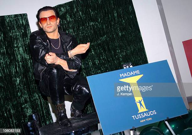 Bono Wax Figure during U2 Rocker Bono Wax Figure Unveiled At Madame Tussauds New York at Madame Tussauds in New York City New York United States