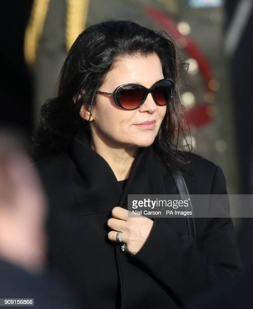 Bono's wife Ali Hewson following the funeral of The Cranberries singer Dolores O'Riordan at Saint Ailbe's Church Ballybricken