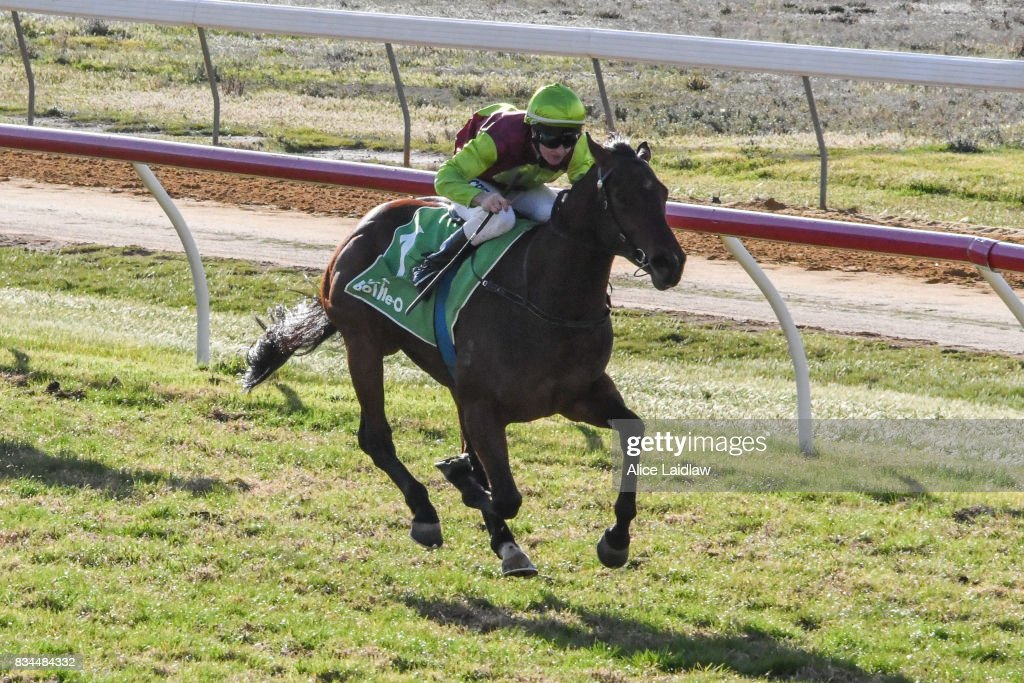 Bons Away ridden by Linda Meech wins the Marios Bar at the Grand BM64 Handicap at Mildura Racecourse on August 18, 2017 in Mildura, Australia.