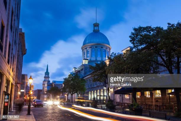 bonsecours market building in montreal - vieux montréal stock pictures, royalty-free photos & images