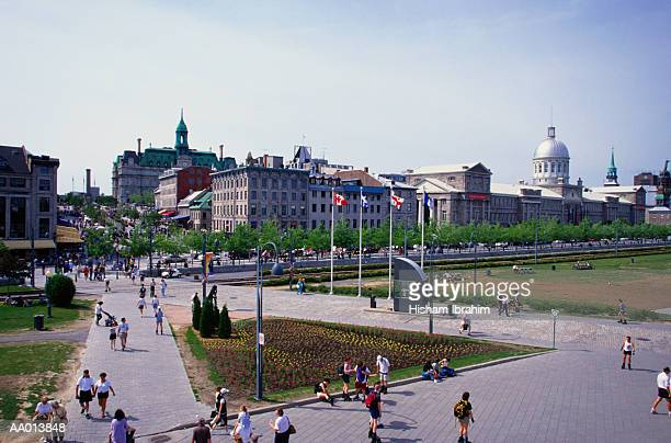 bonsecours market in montreal - place jacques cartier stock pictures, royalty-free photos & images
