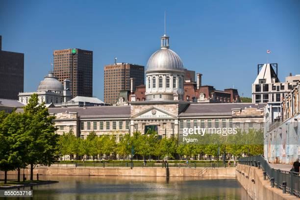 bonsecours market in old montreal - vieux montréal stock pictures, royalty-free photos & images