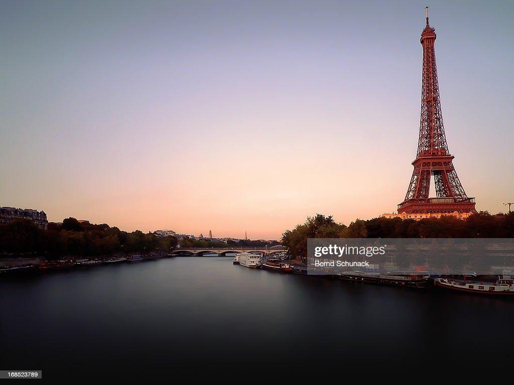 Bonsoir Paris : Stock-Foto