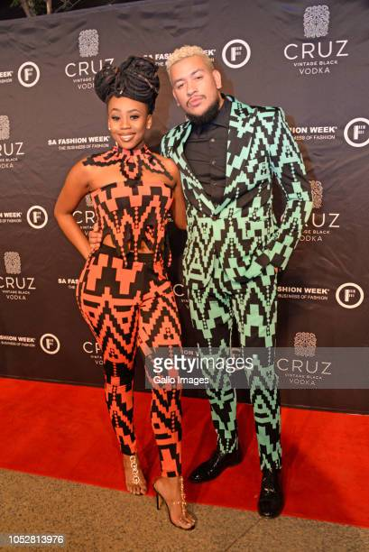 Bontle Modiselle AKA during the Official SA Fashion Week Opening Party in association with Cruz Vodka at The Mark on October 22 2018 in Sandton South...