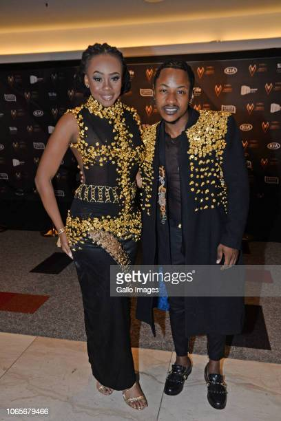Bontle Modiselle and Priddy Ugly during the DStv Mzansi Viewer's Choice Awards event at the Sandton Convention Centre on November 24 2018 in Sandton...