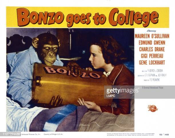 Bonzo Goes To College US lobbycard from left Bonzo Gigi Perreau 1952