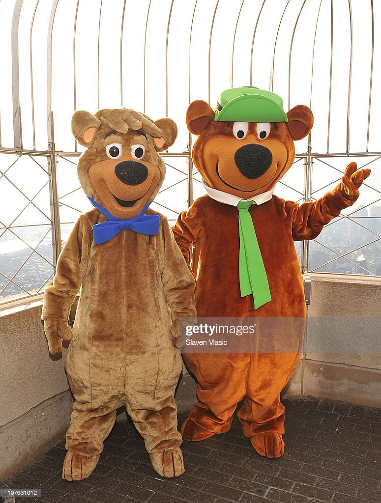 Boo Boo and Yogi Bear the stars of u0027Yogi Bearu0027 a live & Yogi Bear And Boo Boo Visit The Empire State Building Photos and ...
