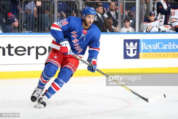 Boo Nieves of the New York Rangers skates against the Edmonton Oilers at Madison Square Garden on November 11 2017 in New York City The New York...