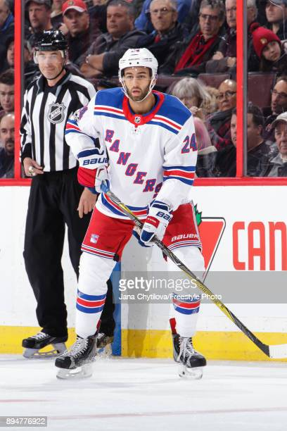 Boo Nieves of the New York Rangers skates against the Ottawa Senators at Canadian Tire Centre on December 4 2017 in Ottawa Ontario Canada