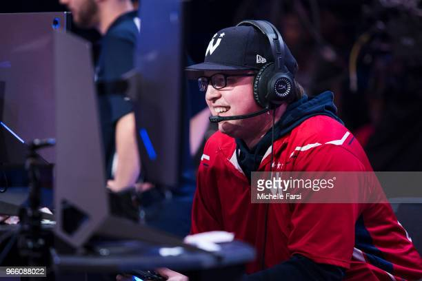 Boo Painter of the Wizards District Gaming plays against the Pistons Gaming Team on June 2 2018 at the NBA 2K League Studio Powered by Intel in Long...