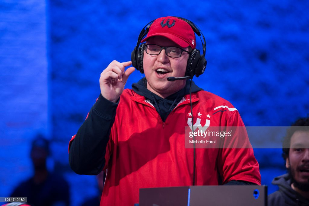 Boo Painter of Wizards District Gaming taunts during the game against Knicks Gaming during Week 12 of the NBA 2K League on August 10, 2018 at the NBA 2K Studio in Long Island City, New York.