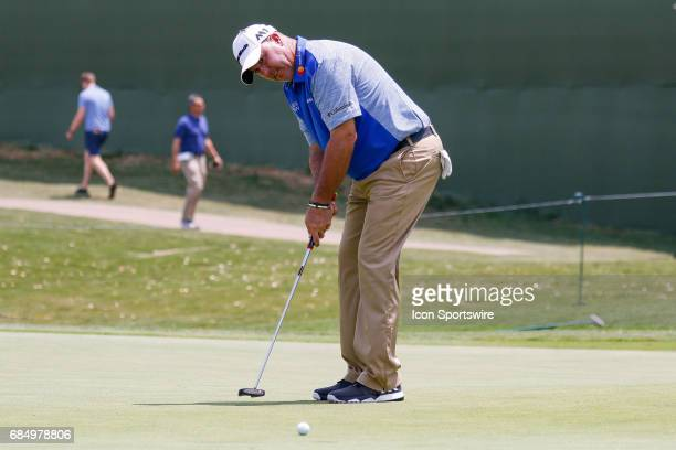 Boo Weekley misses his putt on during the first round of the ATT Byron Nelson on May 18 2017 at the TPC Four Seasons Resort in Irving TX