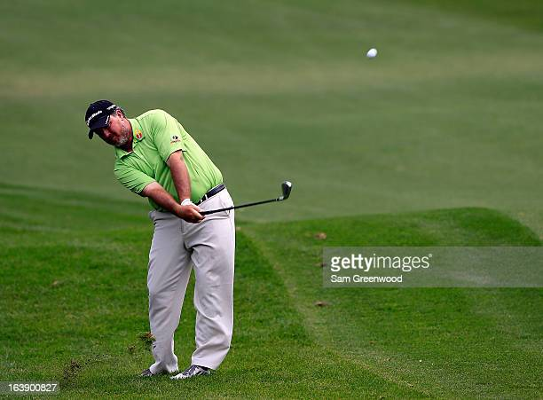 Boo Weekley plays a shot on the 18th hole during the final round of the Tampa Bay Championship at the Innisbrook Resort and Golf Club on March 17...