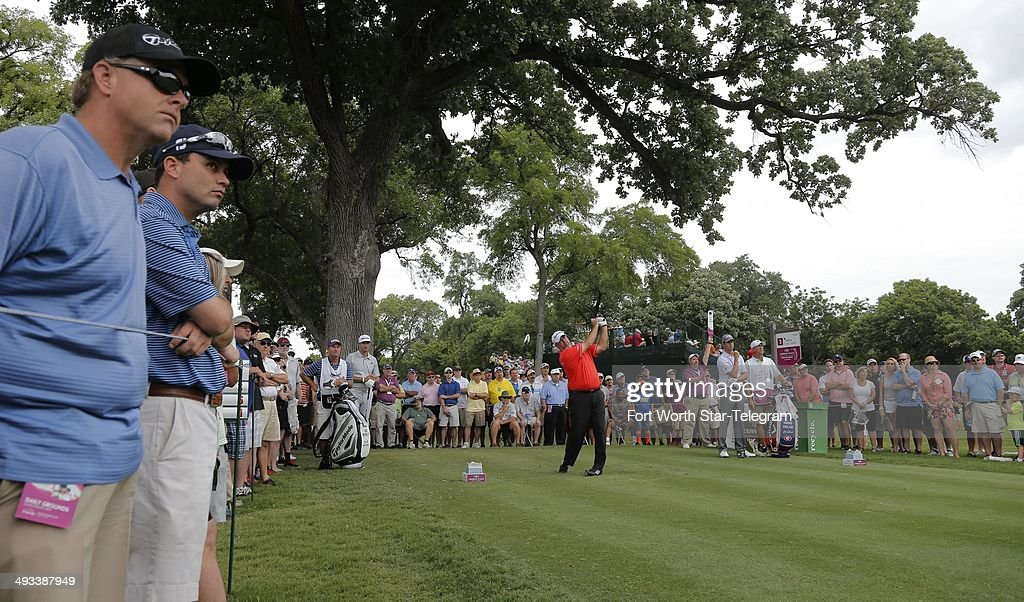 Boo Weekley tees off on the third hole during the second round of the Crowne Plaza