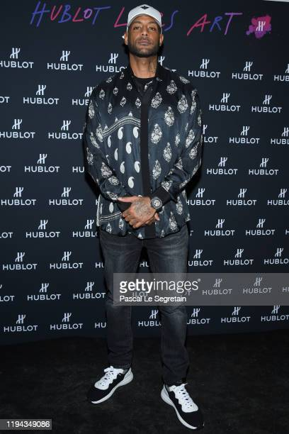 Booba Elie Yaffa attends the Hublot Loves Art Party At Fondation Louis Vuitton on December 16 2019 in Paris France