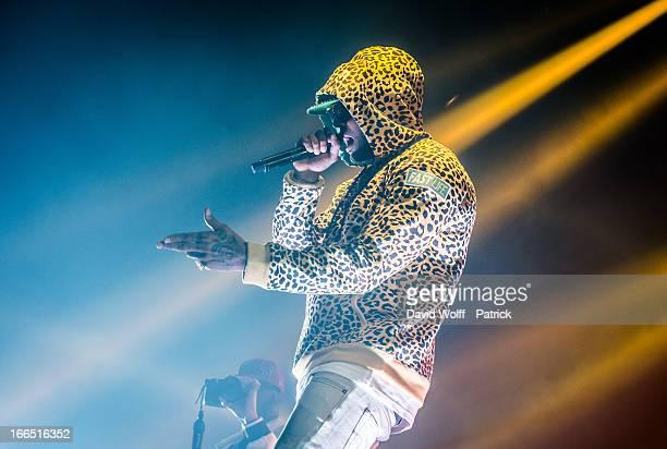 Booba performs at Zenith de Paris on April 13, 2013 in Paris, France.