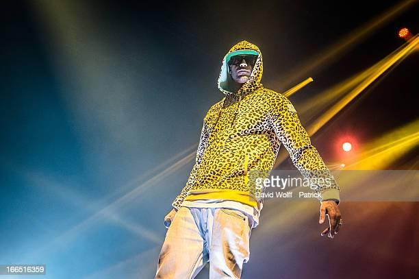 Booba performs at Zenith de Paris on April 13 2013 in Paris France