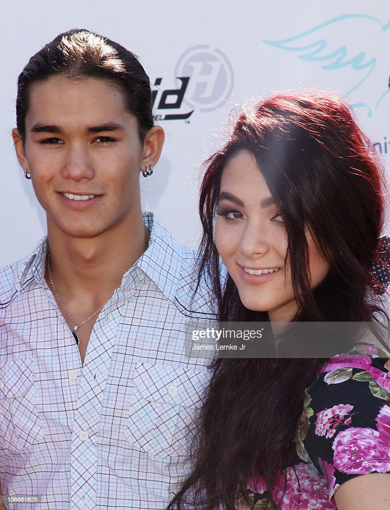 Booboo and Fivel Stewart attends the Children Uniting Nations' Day of The Child Fundraiser held at the Santa Monica Pier on November 18, 2012 in Santa Monica, California.