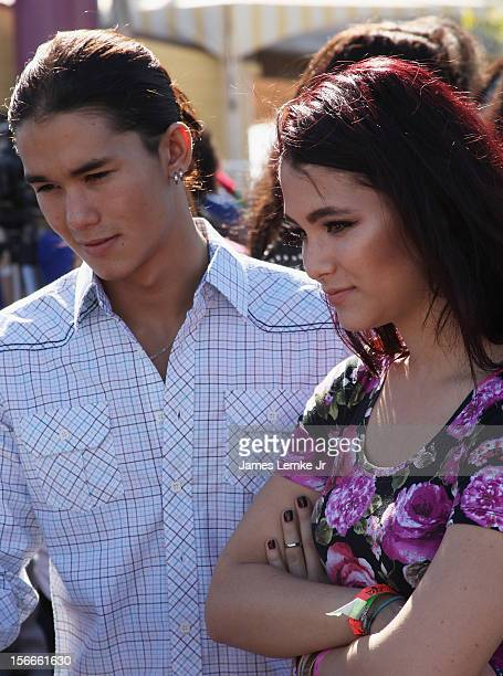 Booboo and Fivel Stewart attends the Children Uniting Nations' Day of The Child Fundraiser held at the Santa Monica Pier on November 18 2012 in Santa...