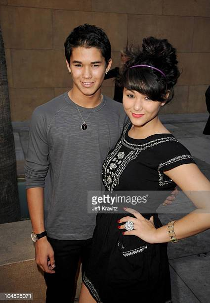 Booboo Stewart and Fivel Stewart attend the Los Angeles premiere of 'Hatchet II' at the Egyptian Theatre on September 28 2010 in Hollywood California