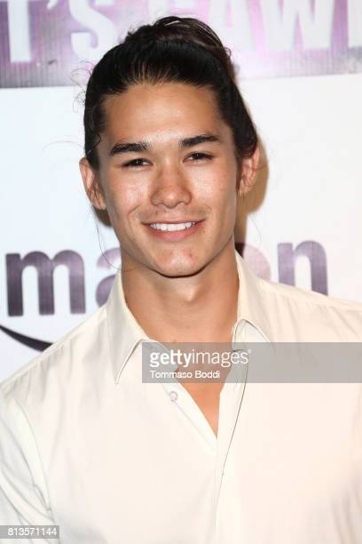 Booboo Stewart attends the Premiere Of Wow And Flutter Media And Amazon Prime Video's 'It's Gawd' at Pacific Theatres at The Grove on July 12 2017 in...