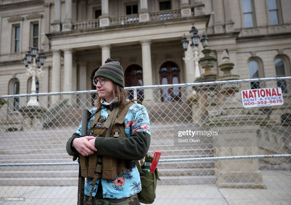 Pro-Trump Protesters Gather At State Capitols Across The Nation Ahead Of Presidential Inauguration : News Photo