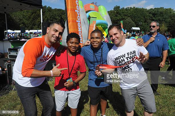 Boogie actors Theodore Barnes and DeVion Harris of the Legendary Dudas and Olympic BMXer Donny Robinson attend Nickelodeon's 13th Annual Worldwide...