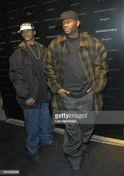 Boogie Dash and Damon Dash during Sean 'Diddy' Combs Celebrates the Launch of 'Unforgivable' at The Core Club in New York City New York United States