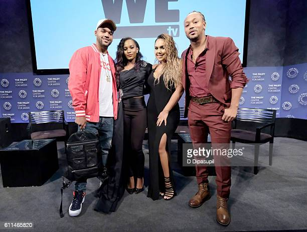 Boogie Dash Egypt Criss Kristinia DeBarge and Romeo Miller attend WE tv's Growing Up Hip Hop Season 2 Premiere Screening And After Party on September...