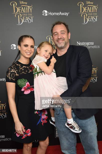 """Boogie Tillmon and Trey Parker arrive at the New York special screening of Disney's live-action adaptation """"Beauty and the Beast"""" at Alice Tully Hall..."""