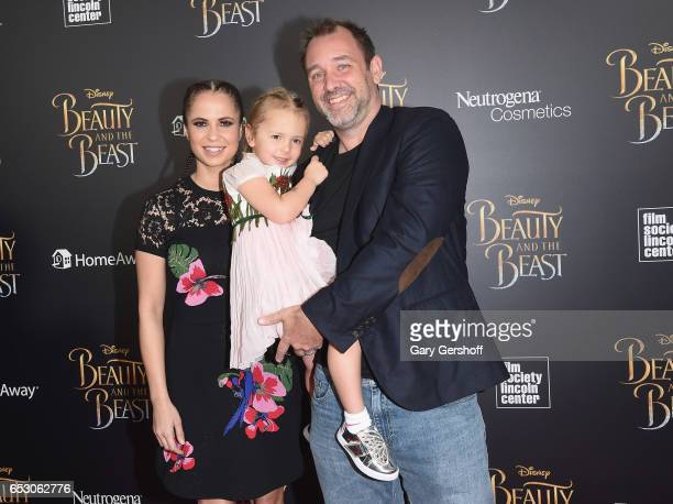 """Boogie Tillmon, Betty Parker and Trey Parker attend the """"Beauty And The Beast"""" New York screening at Alice Tully Hall, Lincoln Center on March 13,..."""