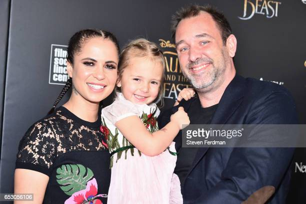 """Boogie Tillmon, Betty Parker, Trey Parker attend the New York Screening of """"Beauty And The Beast"""" at Alice Tully Hall on March 13, 2017 in New York..."""