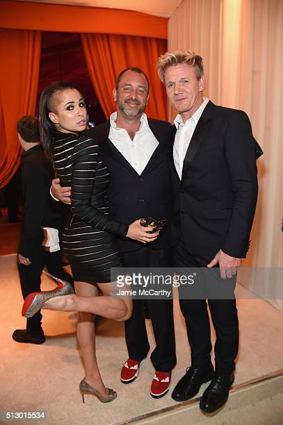 Boogie Tillmon, creator of South Park Trey Parker and chef Gordon Ramsay attend the 24th Annual Elton John AIDS Foundation's Oscar Viewing Party at...